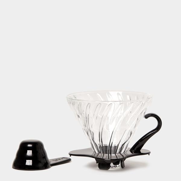 Hario Dripper V60 02 Glas Zwart