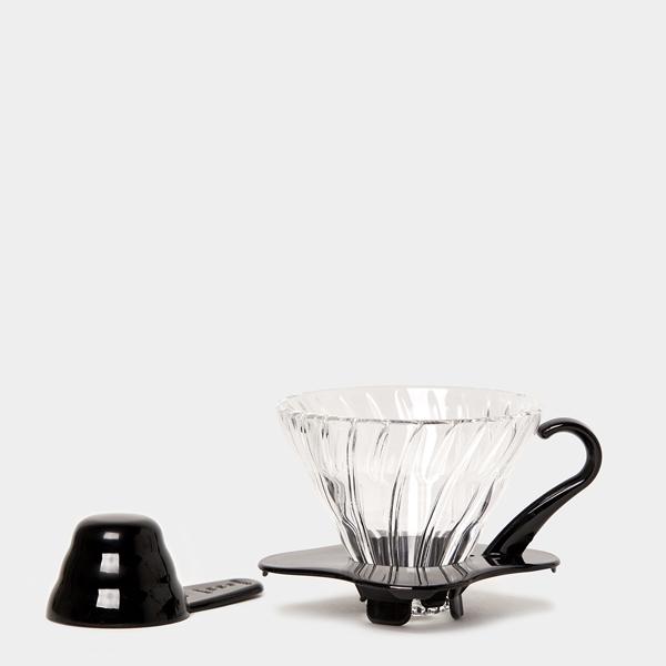 Hario Dripper V60 01 Glas Zwart